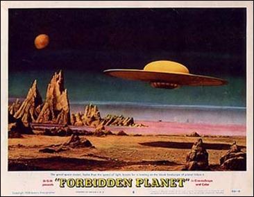 El aterrizaje de la nave en el planeta prohibido