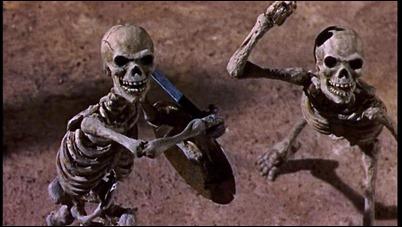 Los esqueletos vivientes de Jasón y los argonautas