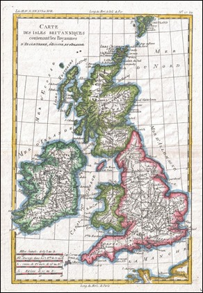 Mapa antiguo de Gran Bretaña