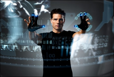 Tom Cruise cazando moscas virtuales en Minority Report