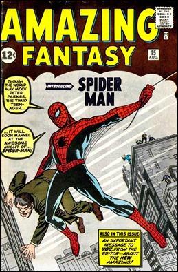 Amazing Fantasy 15, donde todo comenzó. Portada de Jack Kirby