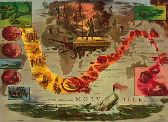 El viaje del Pequod, según una ilustración de Everett Henry