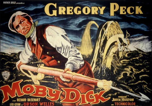 Gregory Peck en Moby Dick