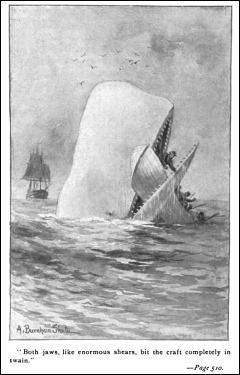 Ilustración de Moby Dick, por Burnham Shuter