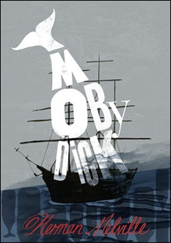 Ingeniosa portada de otra edición de Moby Dick