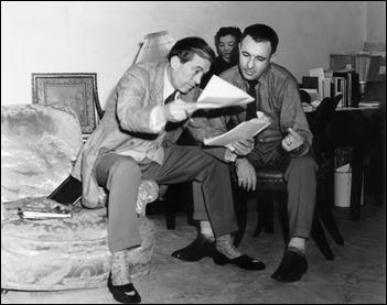 John Huston, izq., y Ray Bradbury, der.