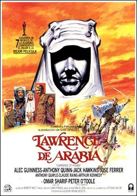 Cartel español de Lawrence de Arabia
