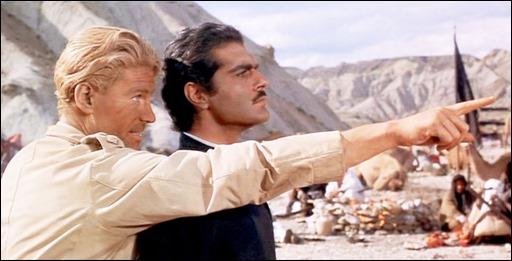 Famosa y estupenda imagen de Peter O'Toole y Omar Sharif