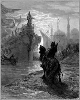 Grabado de Gustave Doré, historia de las Cruzadas