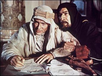 Peter O'Toole y Anthony Quinn, Lawrence y Auda, el falso y el auténtico hombre del desierto