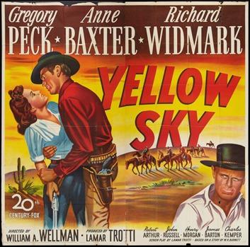 Colorista cartel americano de Cielo amarillo