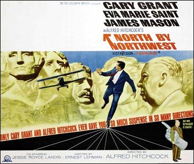 Espléndido poster americano de Con la muerte en los talones