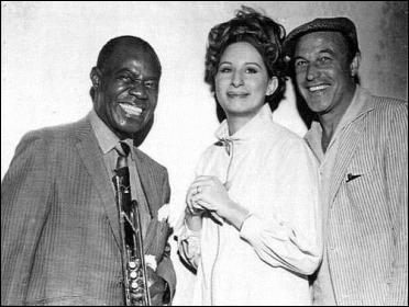 Gene Kelly con Barbra Streisand y Louis Armstrong