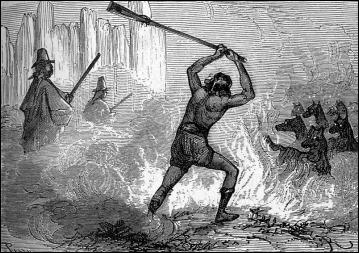 Los lobos atacan a lord Glenarvan y sus amigos