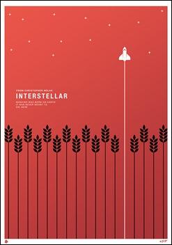Magnífico poster minimalista de Interstellar