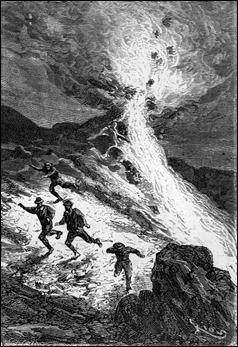 Paganel provoca la erupción de un volcán para escapar de los maoríes