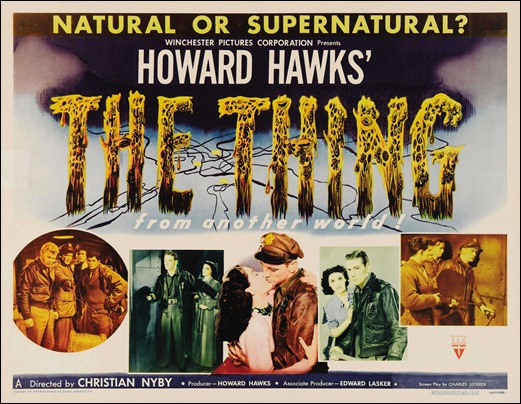 Cartel de The Thing, versión Hawks