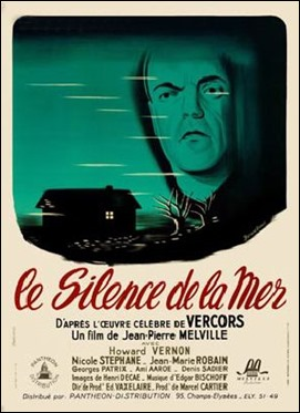 Cartel francés de Le silence de la mer, de Melville