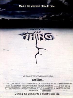 Estupendo cartel americano de La cosa, de John Carpenter