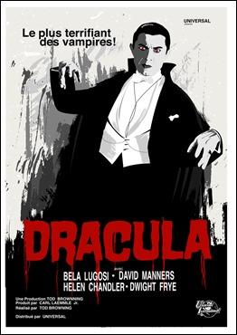 Cartel del Drácula de Bela Lugosi