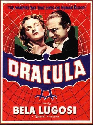 Cartel del Drácula de Tod Browning