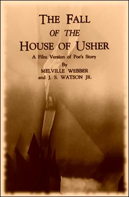 Cartel del Usher de Webber y Watson, con el recortable de la casa