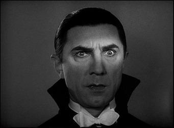 Clásica imagen de Bela Lugosi con la luz resaltando su mirada hipnótica
