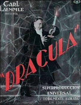 Curioso poster de la versión hispana de Drácula