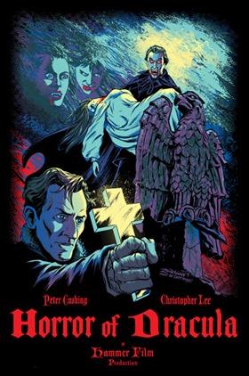 Curioso poster del Drácula de Christopher Lee