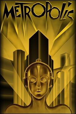 El archifamoso cartel de Metropolis, con C3PO... digo con la María robótica en primer plano