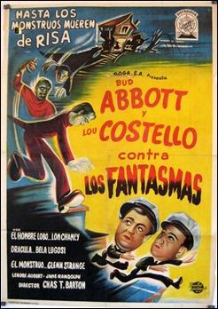 El expresivo cartel de Abbott y Costello contra los fantasmas