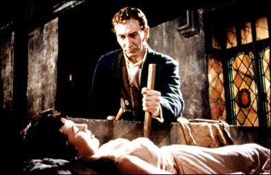 Harker ante la vampira de Drácula