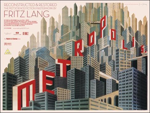 Magnífico cartel de Metrópolis, obra de Boris Bilinsky