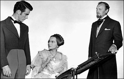 El trío protagonista de La heredera... y el bastidor de bordar