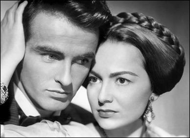 Montgomery Clift y Olivia de Havilland, la pareja protagonista de La heredera