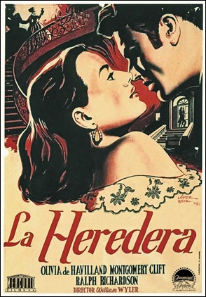 Poster español de La heredera