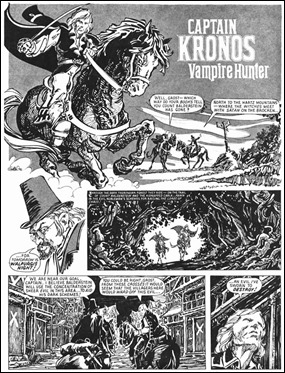 Primera plancha del cómic surgido de la película