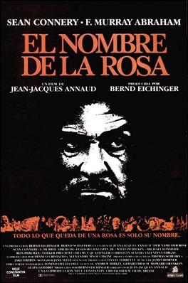 Cartel español de El nombre de la rosa