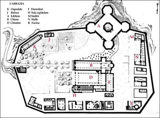 El plano de la abadía de los crímenes