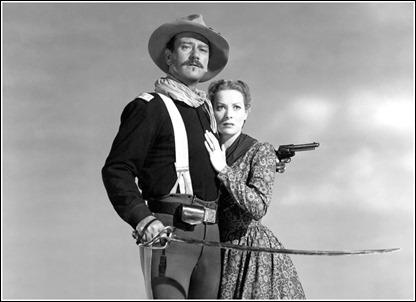 El primer encuentro de Maureen O'Hara y John Wayne, en Rio Grande