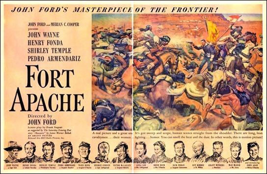 Estupendo cartel promocional de Fort Apache