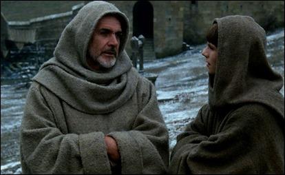 Guillermo de Baskerville y Adso de Melk, investigadores de crímenes
