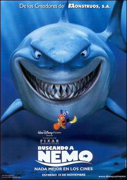 Poster de Buscando a Nemo, con el emblemático tiburón Bruce como protagonista
