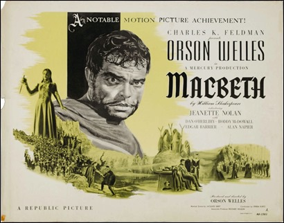 Cartel del Macbeth de Welles