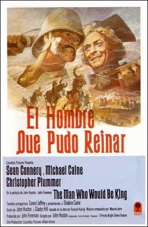 Cartel español de El hombre que pudo reinar