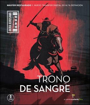 Estupenda portada de la reciente edición en dvd de Trono de sangre