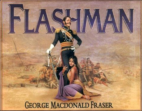 Flashman, sus patillas y una mujer a sus pies