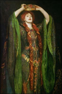 Fragmento del cuadro Ellen Terry como lady Macbeth, de John Singer Sargent