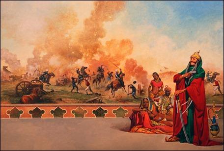 Ilustración de Gino D'Achilles para Flashman y la Montaña de Luz