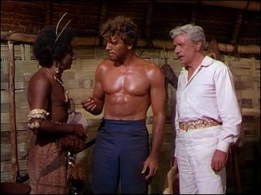 Burt Lancaster entre Abraham Sofaer y Andre Morell